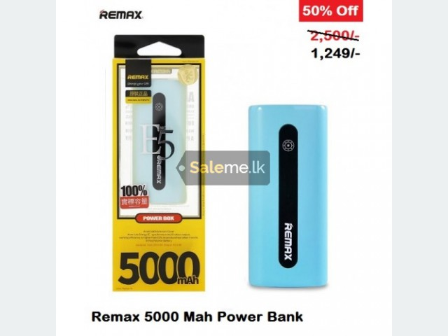 Mobile Phone Accessories - Remax 5000 Mah Power Bank in